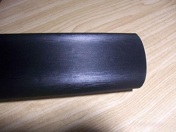 Черная шлифованная алюминиевая пленка (1х1,52см), фото 2