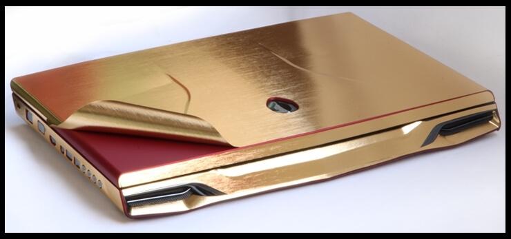 Золотая шлифованная алюминиевая пленка (1х1,52см), фото 2