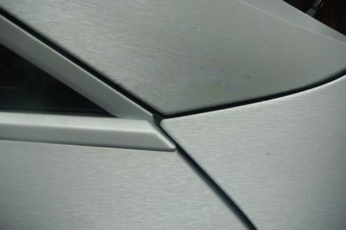 Белая шлифованная алюминиевая пленка (1х1,52см), фото 3