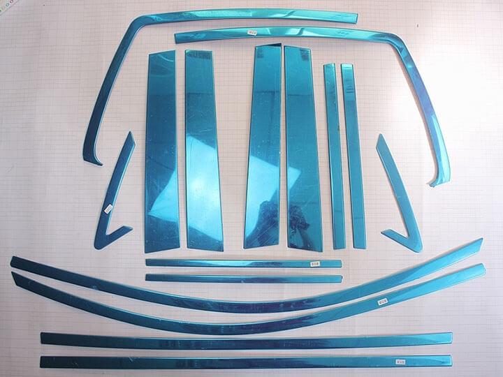 Хромированные молдинги окон дверей на Toyota Highlander (2010-2014) (16 предметов), фото 2