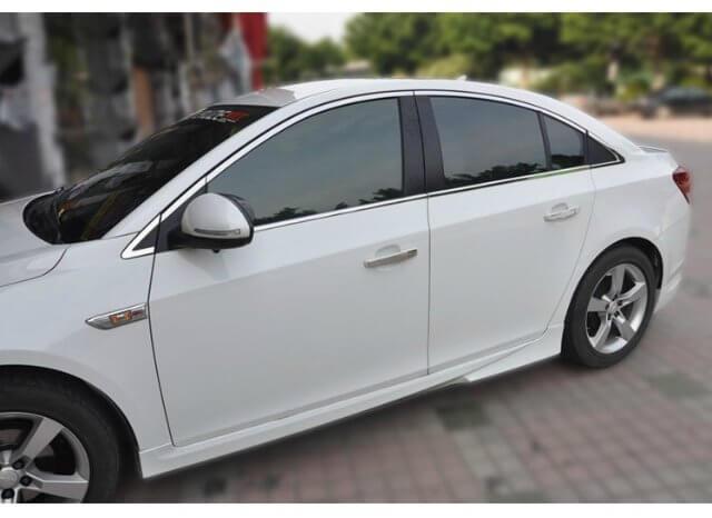 Хромированные молдинги окон дверей на Chevrolet Aveo (седан, 8 предметов)