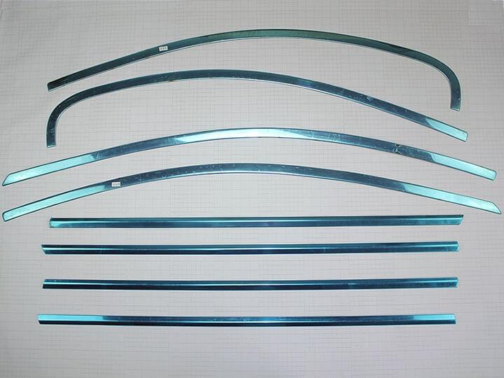 Хромированные молдинги окон дверей на Chevrolet Aveo (седан, 8 предметов), фото 2