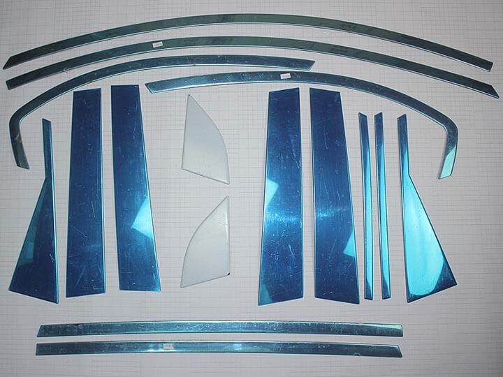 Молдинги окон дверей на Шевроле Каптива - Chevrolet Captiva (16 предметов), фото 3