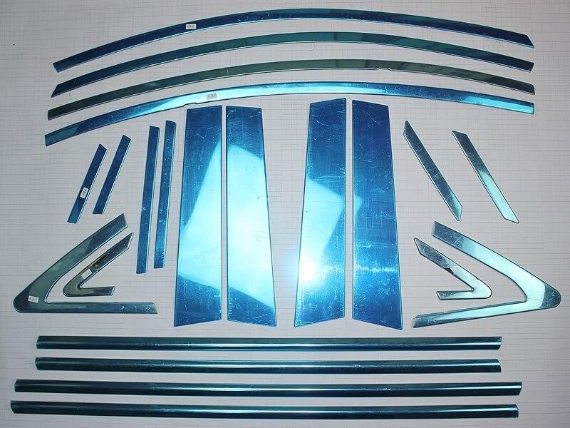 Хромированные молдинги окон дверей на Chevrolet Cruze (22 предмета), фото 2