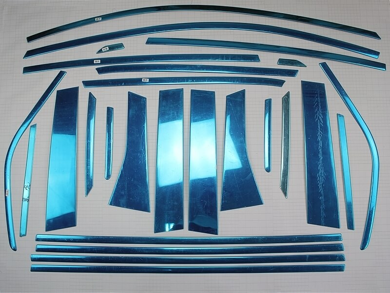 Хромированные молдинги окон дверей Ford Kuga (2013-2015) (26 предметов), фото 2
