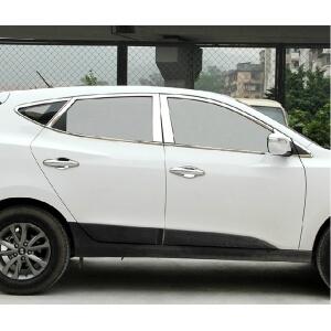 Хромированные молдинги окон дверей Hyundai IX35 (2010-2015) (22 предмета)