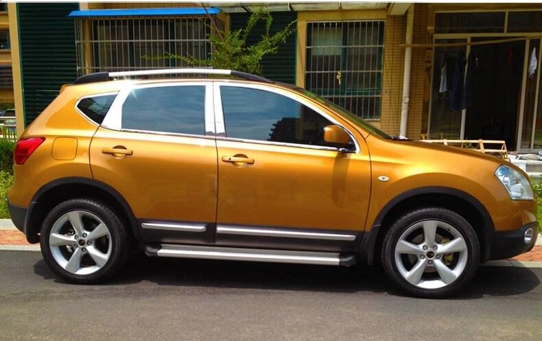 Хромированные молдинги окон дверей на Nissan Qashqai (2007-2014) (20 предметов)
