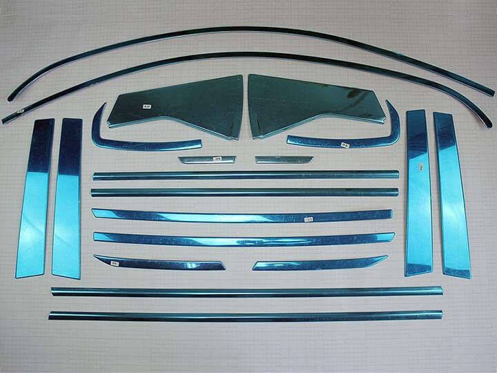 Хромированные молдинги окон дверей на Nissan Qashqai (2007-2014) (20 предметов), фото 2