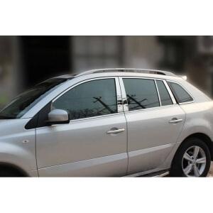 Хромированные молдинги окон дверей на Renault Koleos (2008-2013) (20 предметов)