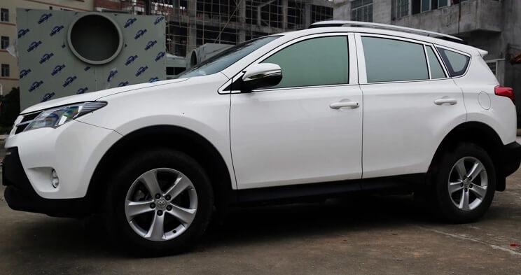 Хромированные молдинги окон дверей на Toyota Rav4 (2013-2017) (22 предмета)