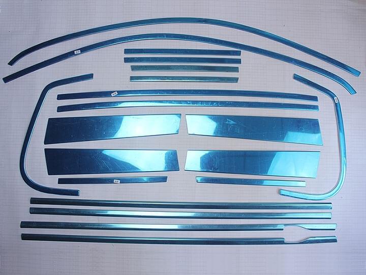 Хромированные молдинги окон дверей Volkswagen Tiguan (2011-2016) (20 предметов), фото 2