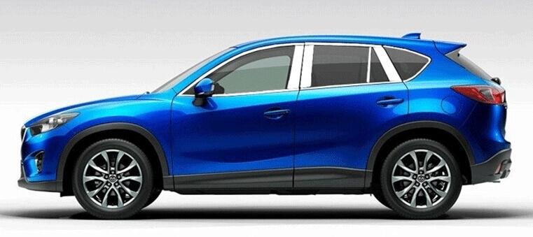 Хромированные молдинги окон дверей Mazda CX-5 (2011-2017) (18 предметов), фото 2