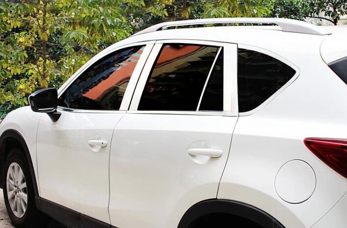 Хромированные молдинги окон дверей Mazda CX-5 (2011-2017) (18 предметов), фото 3