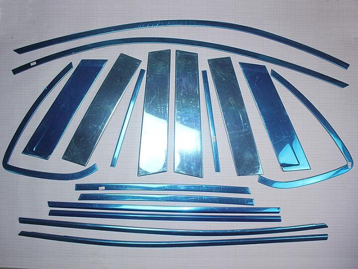 Хромированные молдинги окон дверей Mazda CX-5 (2011-2017) (18 предметов), фото 4