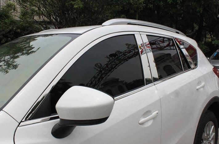 Хромированные молдинги окон дверей Mazda CX-5 (2011-2017) (18 предметов), фото 5