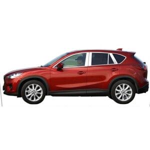 Хромированные молдинги окон дверей Mazda CX-5 (2011-2017) (18 предметов)