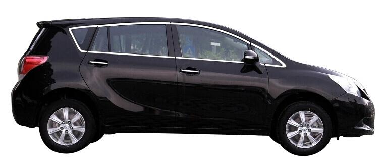 Хромированные молдинги на окна дверей Toyota Verso (2009-2015) (12 предметов)