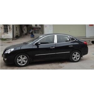 Хромированные молдинги на окна дверей Hyundai Elantra (2006-2010) (12 предметов)