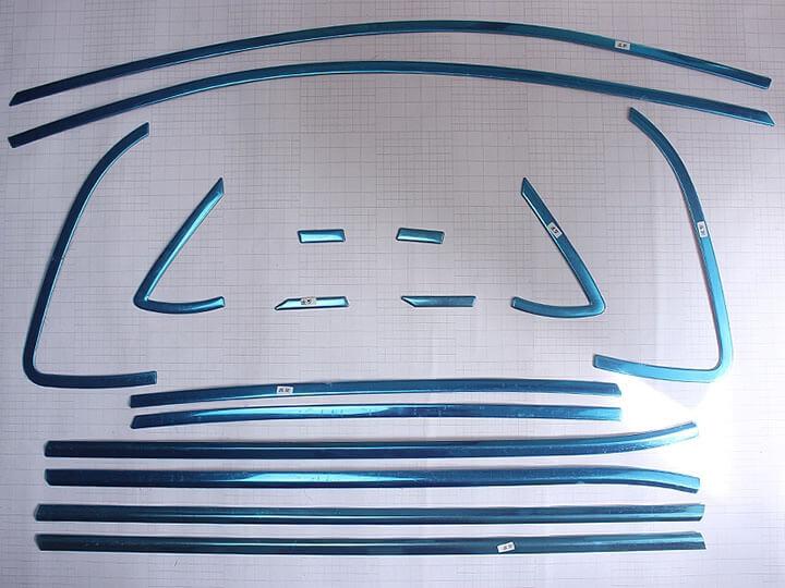 Хромированные молдинги на окна дверей Volkswagen Polo Хэтчбек (2009-2015) (16 предметов), фото 2