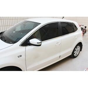 Хромированные молдинги на окна дверей Volkswagen Polo Хэтчбек (2009-2015) (16 предметов)