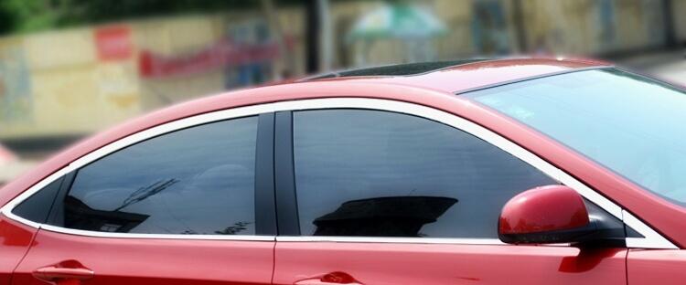 Хромированные молдинги на окна дверей Hyundai Solaris (2010-2015) (16 предметов), фото 3