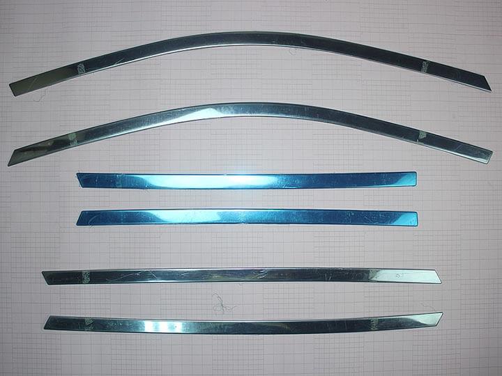 Хромированные молдинги на окна дверей Great Wall Hover H5 (6 предметов), фото 2
