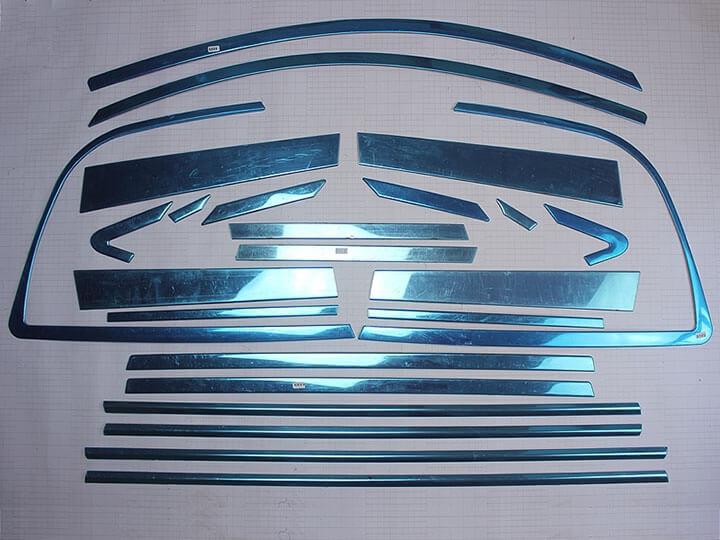Хромированные молдинги на окна дверей Toyota Rav4 (2010-2012) (24 предмета), фото 2
