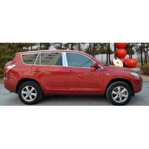 Хромированные молдинги на окна дверей Toyota Rav4 (2010-2012) (24 предмета)