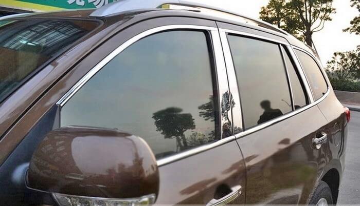 Хромированные молдинги на окна дверей Hyundai Santa Fe (2006-2012) (22 предмета), фото 4