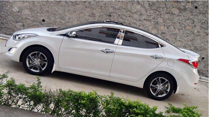 Хромированные молдинги на окна дверей Hyundai Elantra (2011-2015) (16 предметов)