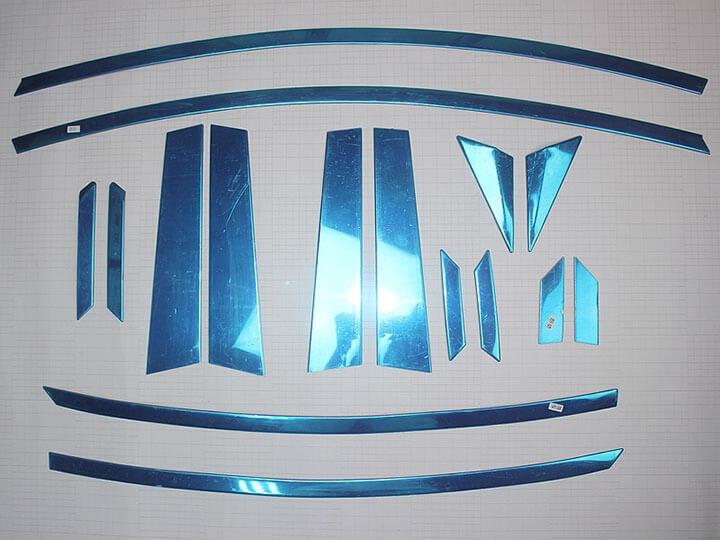 Хромированные молдинги на окна дверей Hyundai Elantra (2011-2015) (16 предметов), фото 2