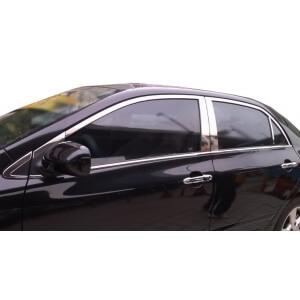 Хромированные молдинги на окна дверей Toyota Corolla (2006-2013) (18 предметов)