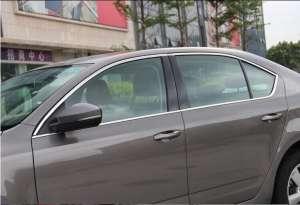 Хромированные молдинги на окна дверей Skoda Octavia A7 (12 предметов)