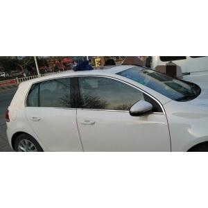 Хромированные молдинги на окна дверей Volkswagen Golf 6 (8 предметов)
