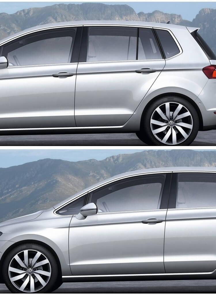 Хромированные молдинги на окна дверей Volkswagen Golf 7 (10 предметов), фото 2