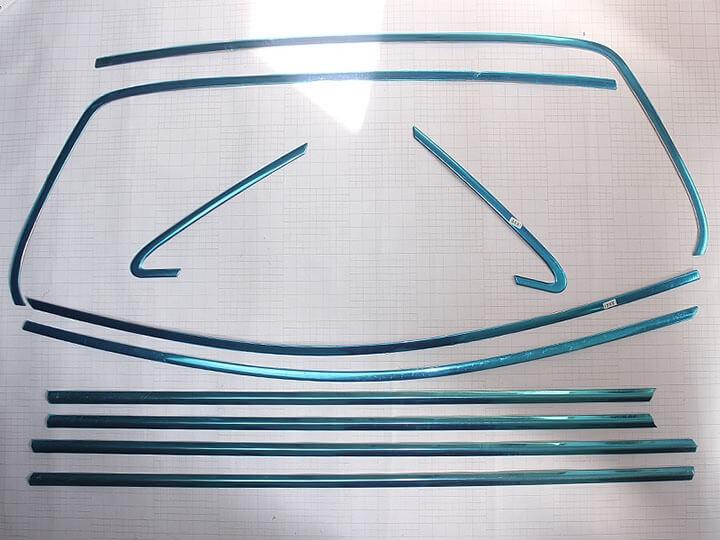 Хромированные молдинги на окна дверей Volkswagen Golf 7 (10 предметов), фото 3