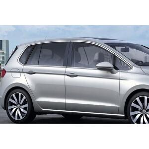 Хромированные молдинги на окна дверей Volkswagen Golf 7 (10 предметов)