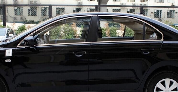 Хромированные молдинги на окна дверей Skoda Rapid (10 предметов)