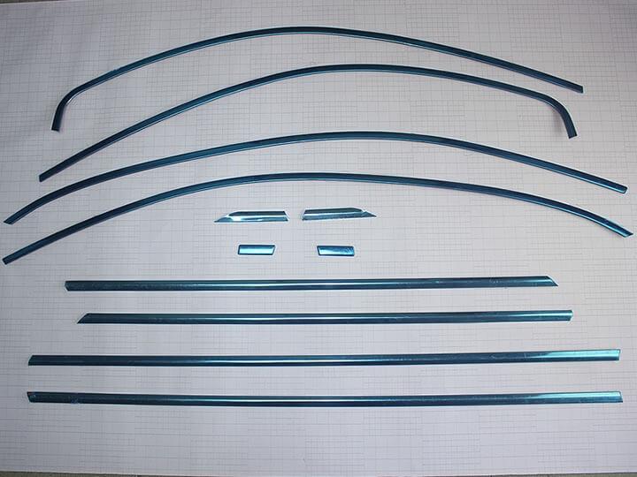 Хромированные молдинги на окна дверей Skoda Rapid (10 предметов), фото 2
