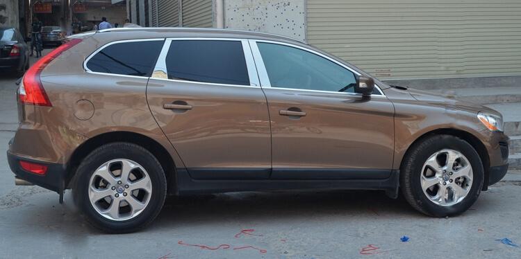 Хромированные молдинги на окна дверей Volvo XC60 (2013-2015) (18 предметов)