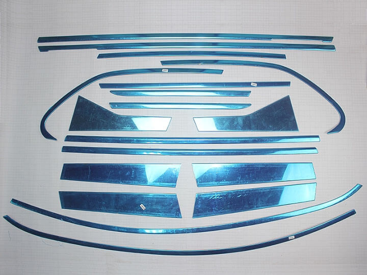 Хромированные молдинги на окна дверей Volvo XC60 (2013-2015) (18 предметов), фото 2