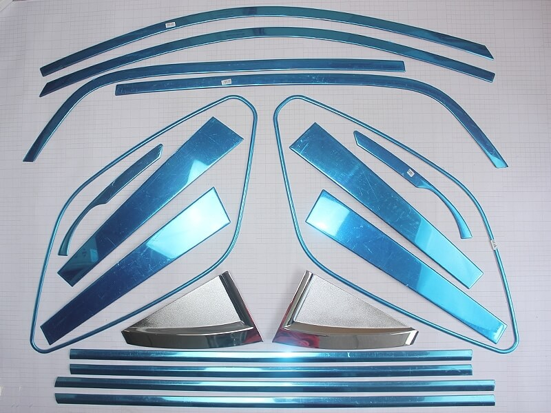 Хромированные молдинги на окна дверей Kia Sportage (2004-2010) (18 предметов), фото 2