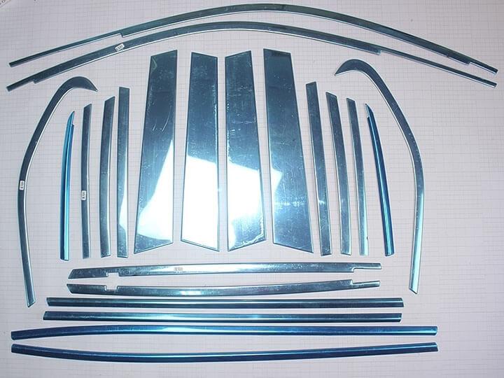 Хромированные молдинги на окна дверей BMW X1 (22 предмета), фото 2