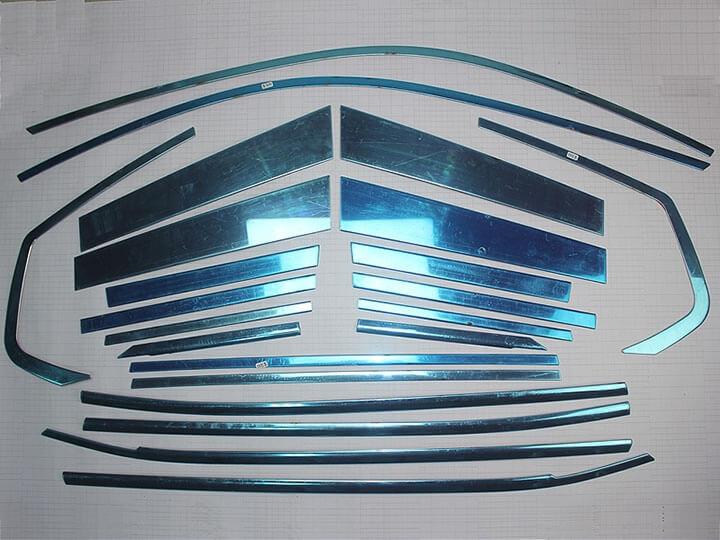 Хромированные молдинги на окна дверей BMW X3 (22 предмета), фото 2