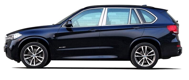 Хромированные молдинги на окна дверей BMW X5 (20 предмета)