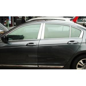 Хромированные молдинги на окна дверей Honda Accord 8