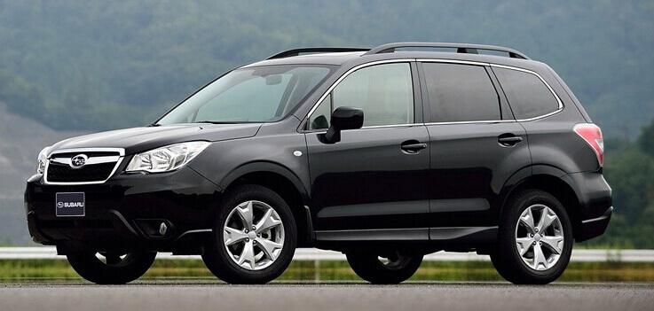 Хромированные молдинги на окна дверей Subaru Forester (2008-2011) (10 предметов)