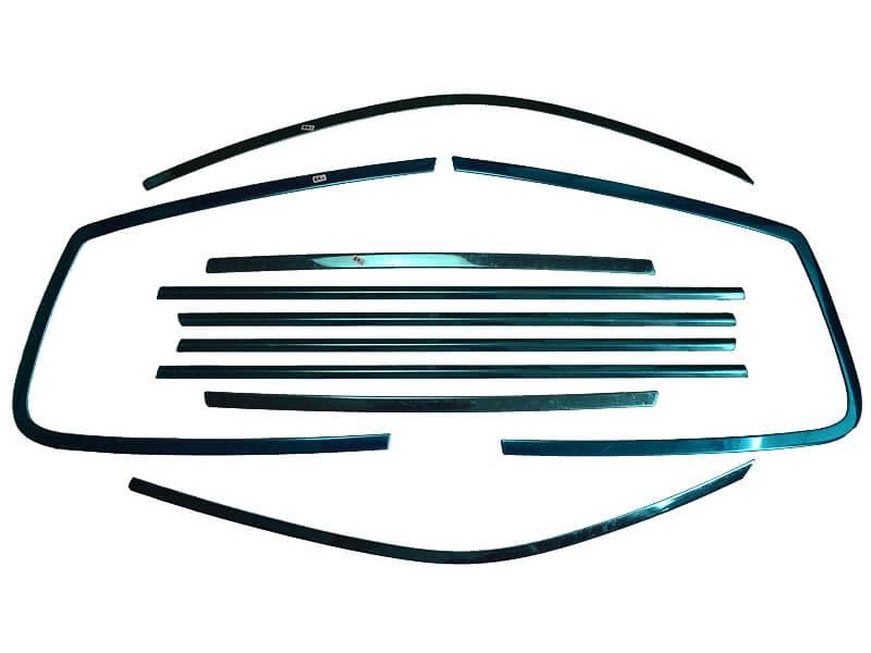 Хромированные молдинги на окна дверей Subaru Forester (2008-2011) (10 предметов), фото 2