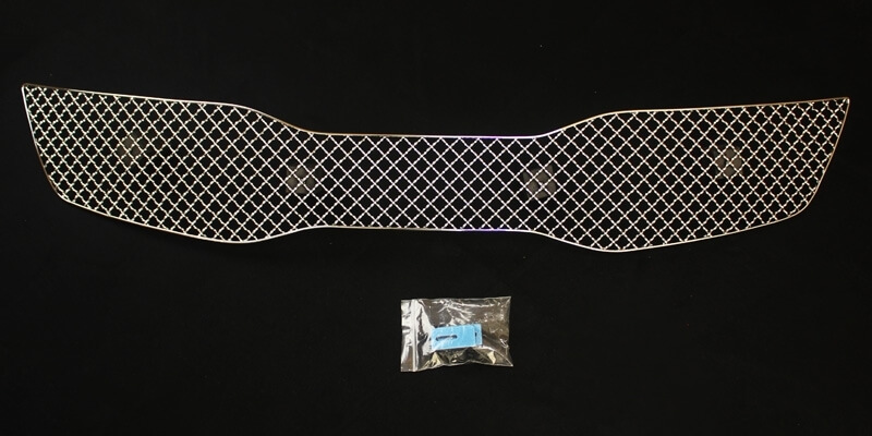 Хромированная решетка радиатора Kia Optima (верхний) (2010-2013), фото 5