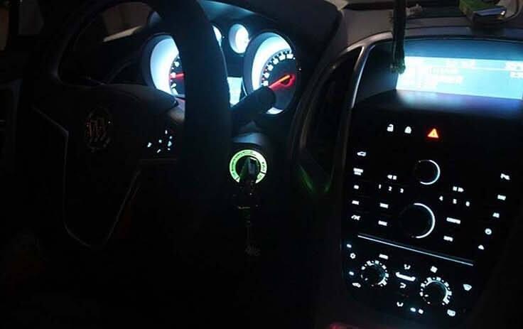 Светящаяся накладка на замок зажигания для Chevrolet Cruze, фото 7